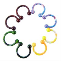 Circular barbell – 3mm balls - Multicolor