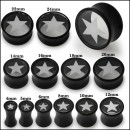 Acrylic plug – White star – UV