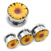 Daisy flower Ear plug