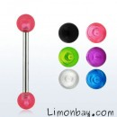 Barbell con bolas UV de 5mm