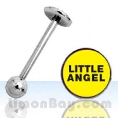 Piercing de lengua con logo 'Little Angel'