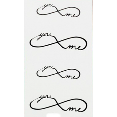 Tatuaje temporal - Infinito You & Me